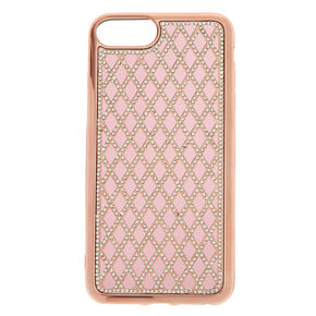Rose Gold Quilted Phone Case,