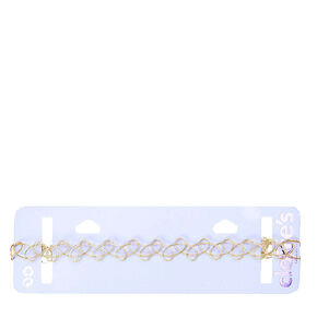 Gold Toned Tattoo Choker,