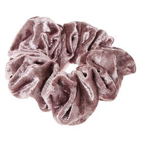 Gray Velvet Hair Scrunchie,
