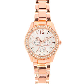 Rose Gold-Tone Watch with Hearts,