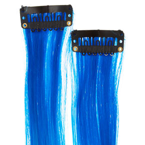 Teal Ombre Faux Hair Clips,