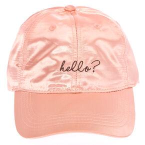 Pink Hello Baseball Cap,
