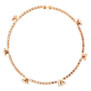 Dazzling Rose Gold Tone Bracelet,
