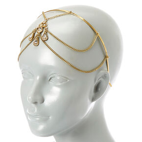 Rustic Gold Front & Back Head Chain,