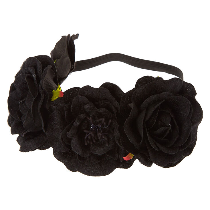 Black Velvet Flower Crown,