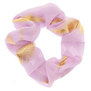 Lilac Leaf Hair Scrunchie,