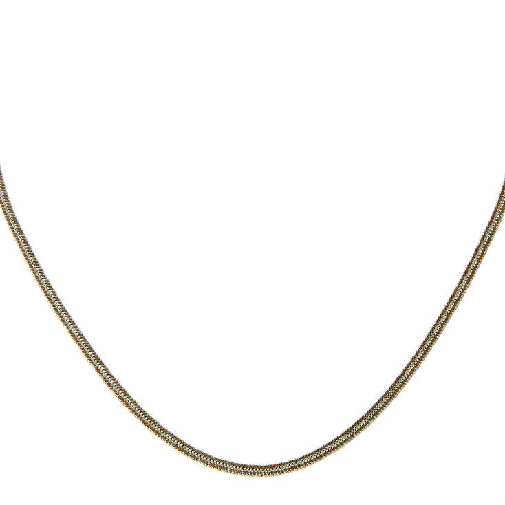 White Chain Choker Necklace,