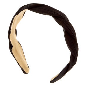 Kara Twist Black Headband,