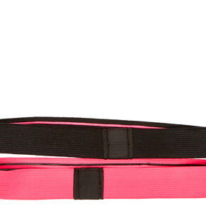 No Slip Grip Neon Pink And Black Headwraps,