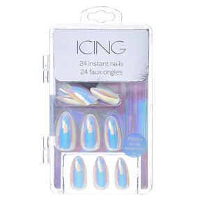 Iridescent Fake Nails,