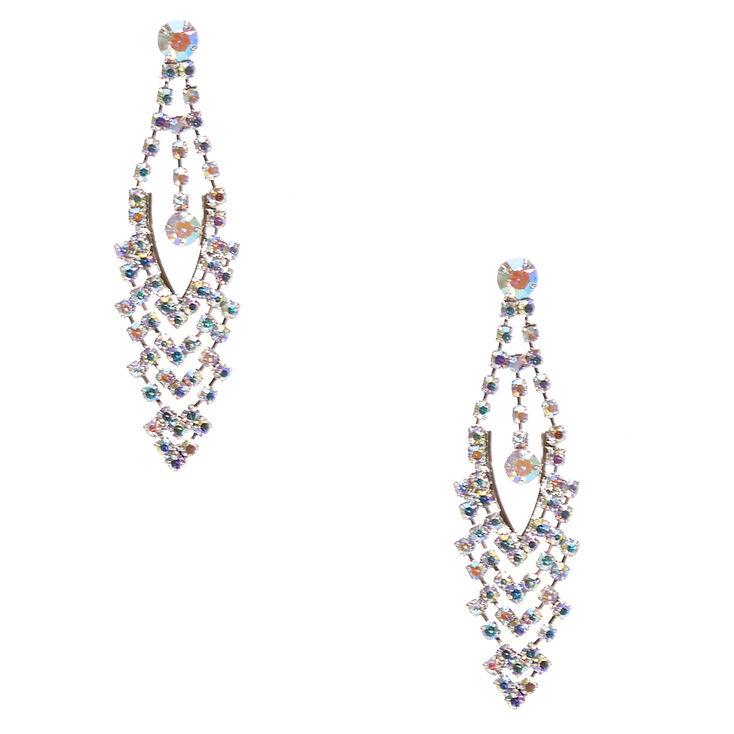 Aurora Borealis Crystal Marquis Drop Earrings,