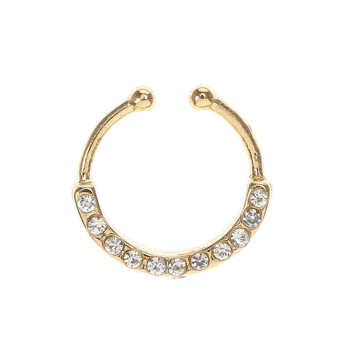 Gold Bling Faux Cartilage Earring,