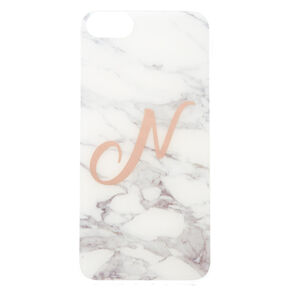 "Marbled ""N"" Initial Phone Case,"