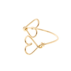 Wire Heart Gold Toe Ring,
