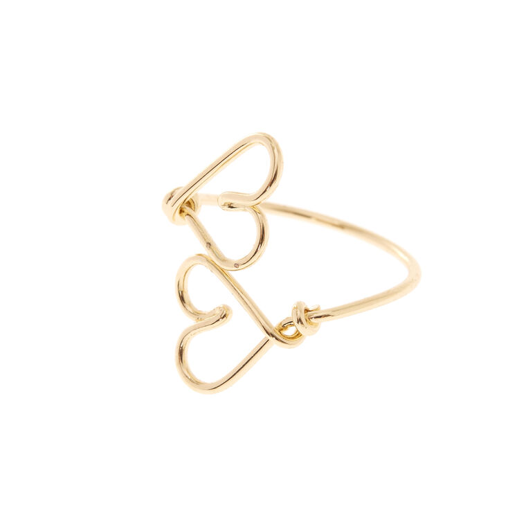 Wire Heart Gold Toe Ring