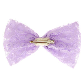 Lilac Purple Lace Bow Hair Clip,