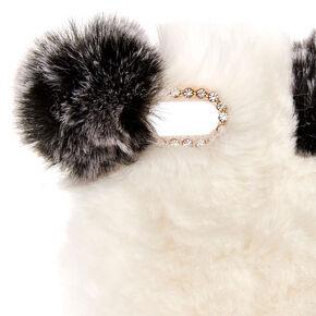 Faux Fur Panda Phone Case,