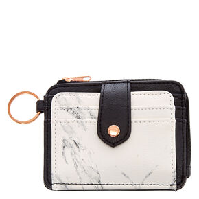 Marble & Black Mini Coin Wallet,