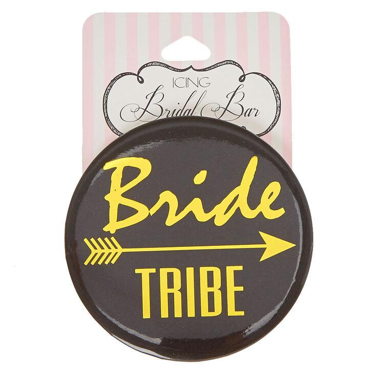 Black & Gold Bride Tribe Button,