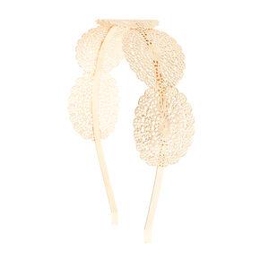Gold Filigree Oval Medallions Headband,