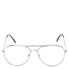 Silver Metal Aviator Glasses,