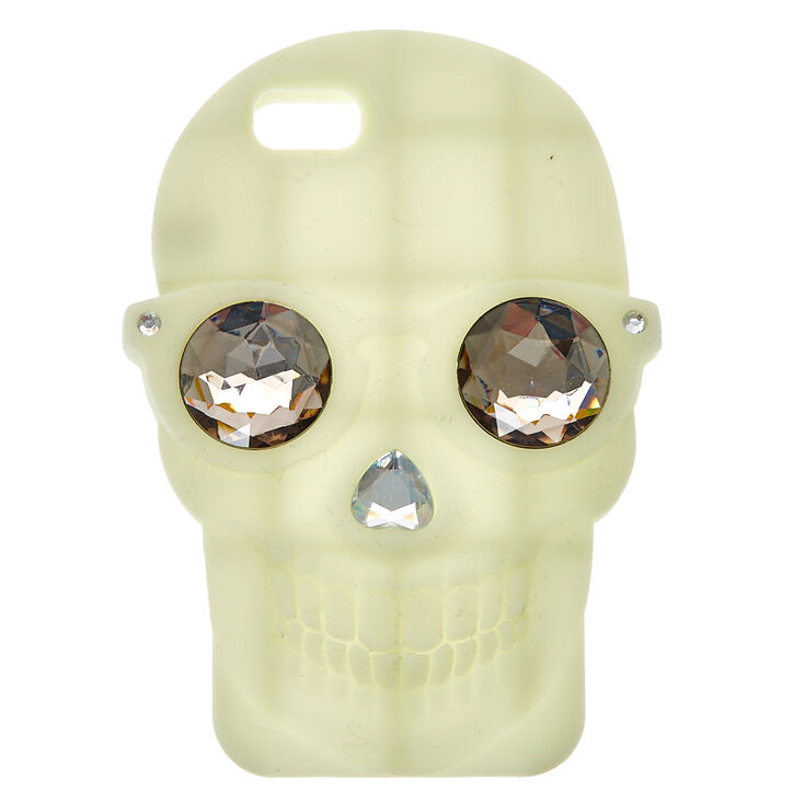 Glow In The Dark Skull Phone Case,