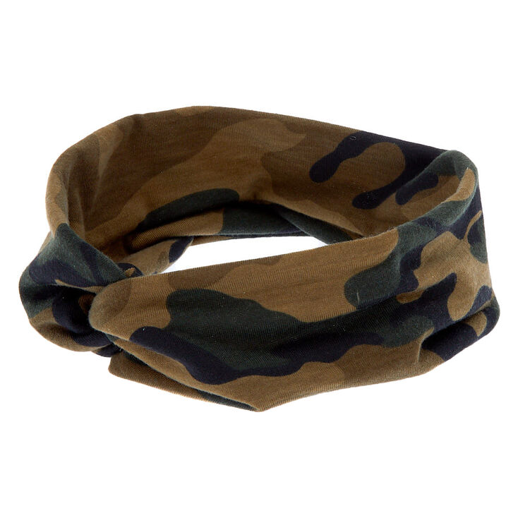 Wide Band Camo Army Headwrap,