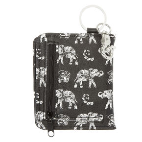 Black and White Elephant Wallet,
