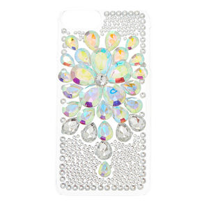 Iridescent Flower Stone Phone Case,