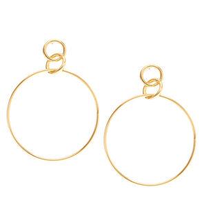 Gold Interlocking Hoop Earrings,