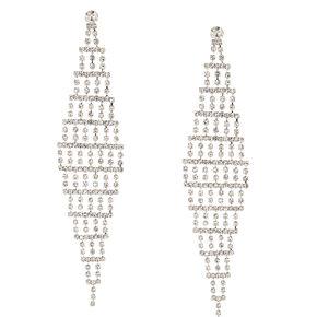 Tiered Crystal Drop Earrings,