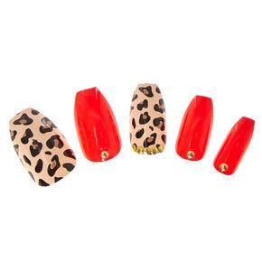 Leopard Print Instant Nails,