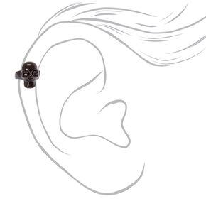 Black Skull Ear Cuff,