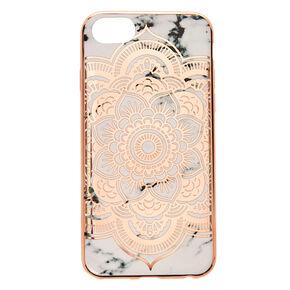 Rose Gold Mandala Marble Phone Case,