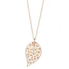 Filigree Leaf Pendant Necklace,