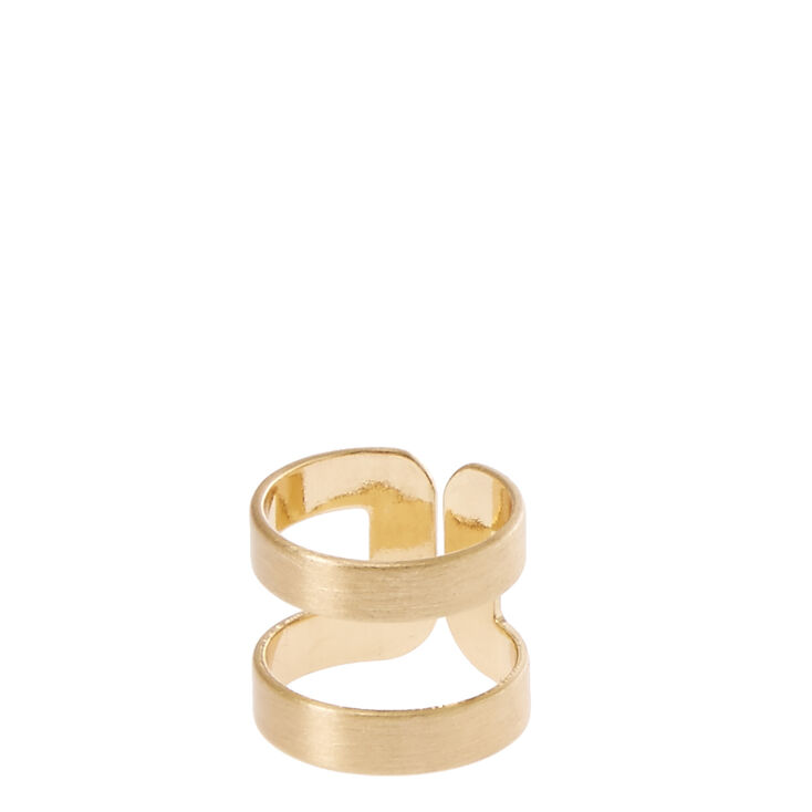Gold-Tone Satin Midi Ring,