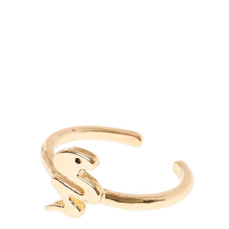Gold Toned Snake Toe Ring,