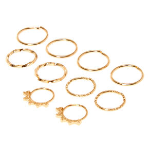 Gold Hair Rings 10 Pack,