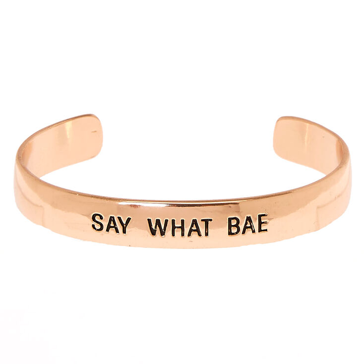 Rose Gold-Tone SAY WHAT BAE Cuff Bracelet,