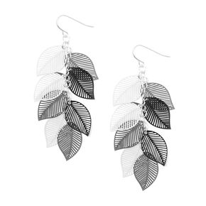 Cascading Leaves Drop Earrings,