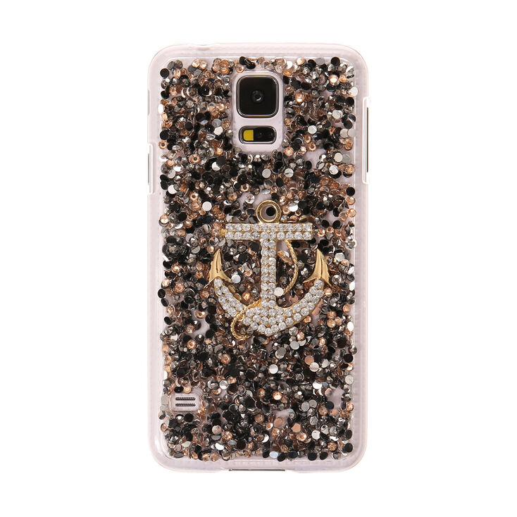 Crystal Embellished Anchor Phone Case,