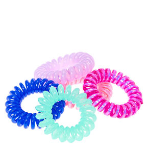 Pink & Blue Mini Coiled Hair Ties,