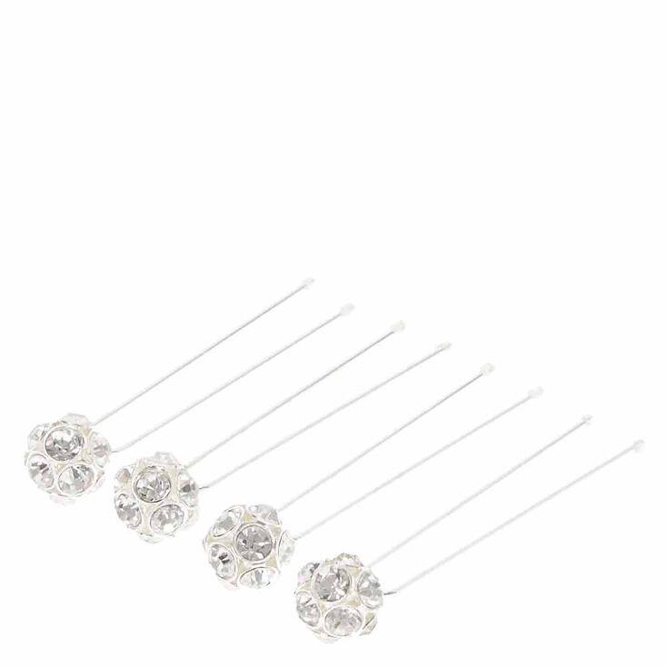 Silver Tone Fireball Hairpins,