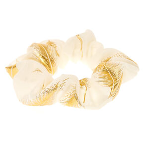 Gold Leaf Ivory Hair Scrunchie,