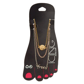 Mixed Metal Free Anklet 3 Pack,