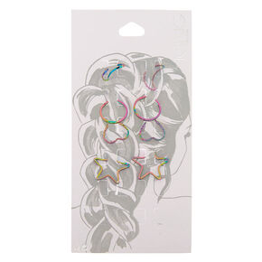Anodized Hair Rings 8 Pack,