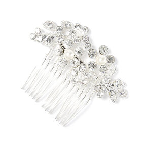 Rhinestone Vines & Leaves Hair Comb,