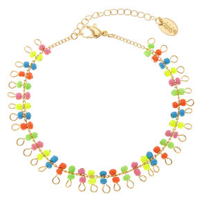 Neon Beaded Anklet,