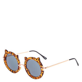 Leopard Print Cat Sunglasses,