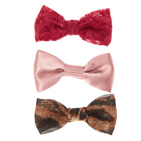 Leopard Lace Bow Hair Clips,